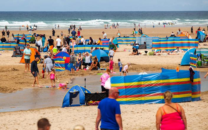 Locals in Cornwall have complained that they are being overwhelmed by tourists. (SWNS)