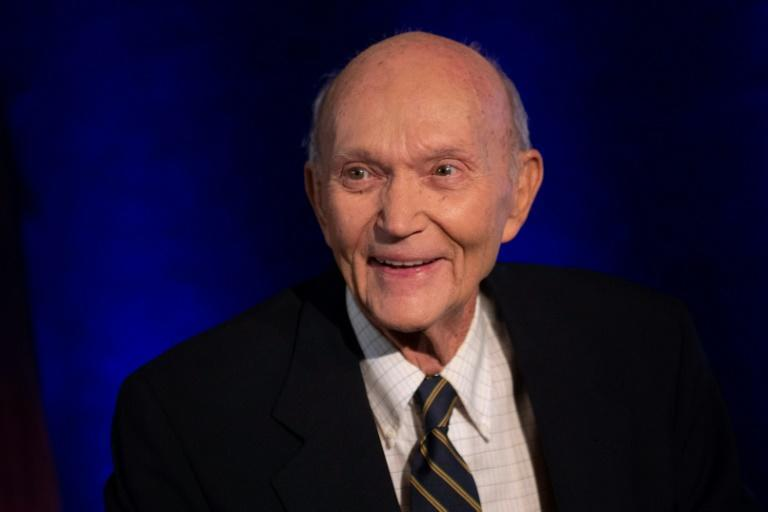 Apollo 11 astronaut Michael Collins, pictured at the National Press Club in Washington in 2019, flew the Apollo 11 command module while his crewmates became the first people to land on the Moon