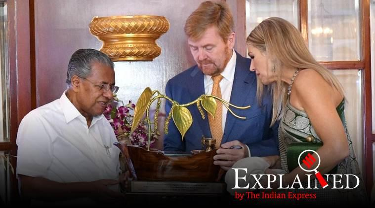 dutch royal couple, dutch royal couple visits kerala, King of the Netherlands, King of the Netherlands in kerala, King of the Netherlands visits kochi, Willem-Alexander, Queen Maxima, express explained, indian express
