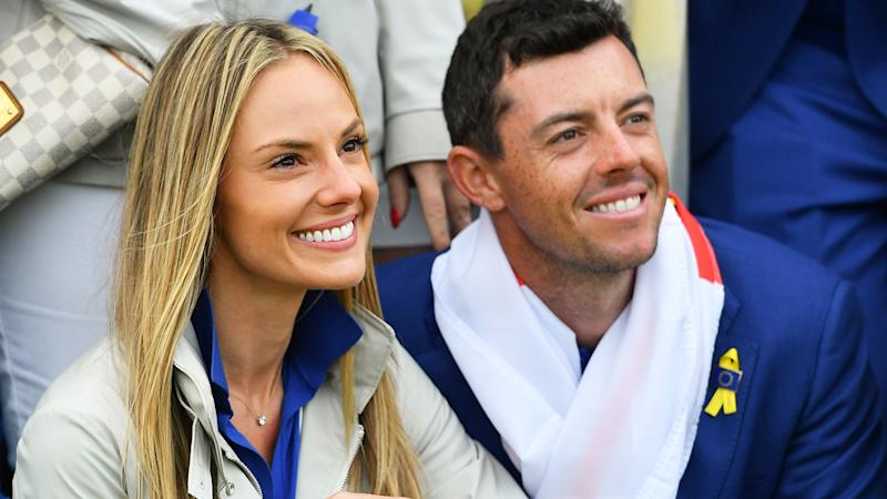 Rory McIlroy and wife Erica, pictured here at the 2018 Ryder Cup.