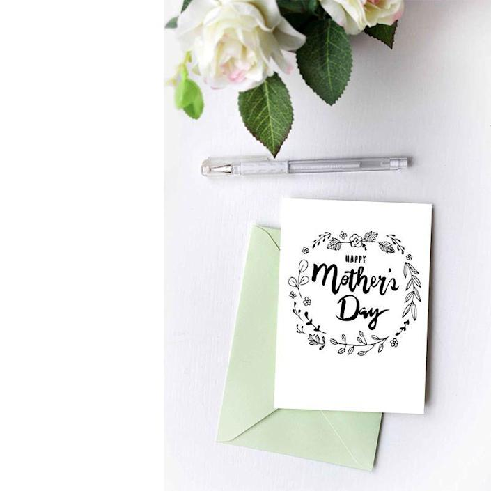 """<p>You can print this simple card and fill in the drawings with color for a custom look. Or keep it black and white for a mom with minimalistic style.</p><p><em><strong>Get the printable at <a href=""""https://www.tingandthings.com/2018/04/free-mothers-day-card-printable.html"""" rel=""""nofollow noopener"""" target=""""_blank"""" data-ylk=""""slk:Ting and Things."""" class=""""link rapid-noclick-resp"""">Ting and Things.</a></strong></em></p>"""