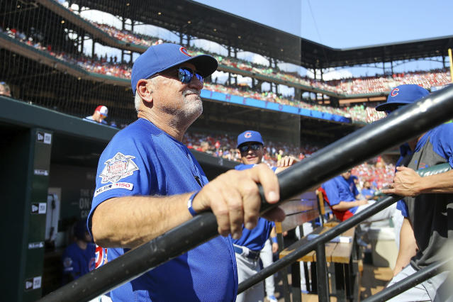Joe Maddon won a World Series with the Cubs in 2016. (AP Photo/Scott Kane)