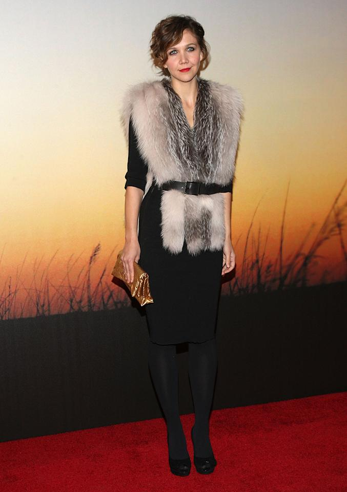 """<a href=""""http://movies.yahoo.com/movie/contributor/1800360995"""">Maggie Gyllenhaal</a> at the MoMa Film benefit gala honoring Baz Luhrmann in New York - 11/10/2008"""