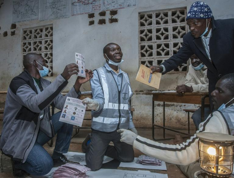 Malawi voted on Tuesday in its second presidential election in 13 months (AFP Photo/AMOS GUMULIRA)