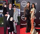 """<p><em>Then: </em>At <em>The Emperor's New Groove</em> premiere in 2002</p><p><em>Now: </em><span class=""""redactor-invisible-space"""">At the 2015 ESPY Awards</span></p>"""