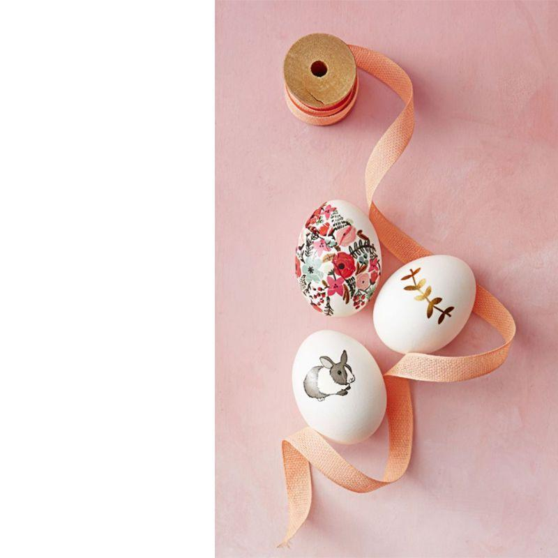 "<p>These gorgeous floral eggs are so simple to make: simply press stick-on flash tattoos to the shells with light pressure, then smooth out wrinkles once you've peeled off the back.</p><p><em>Get the tutorial at <a href=""https://www.goodhousekeeping.com/holidays/easter-ideas/g419/easter-egg-decorating-ideas/?slide=45"" rel=""nofollow noopener"" target=""_blank"" data-ylk=""slk:Good Housekeeping"" class=""link rapid-noclick-resp"">Good Housekeeping</a>.</em></p>"