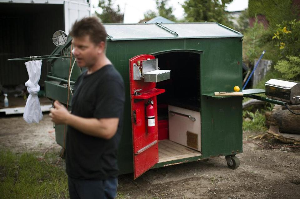 Man converts NYC dumpster into a home