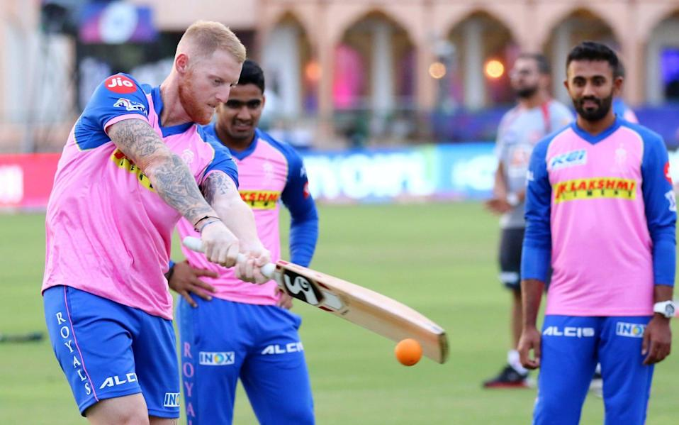 Rajasthan Royals player Ben Stokes during the practice session ahead the IPL match against Kings XI Punjab at Sawai Mansingh Stadium in Jaipur, Rajasthan, India, on Sunday, March 24,2019. - GETTY IMAGES