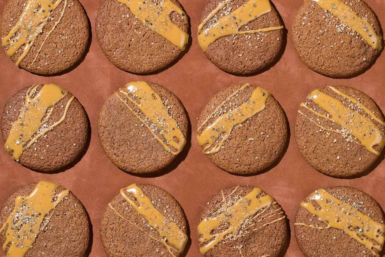"If you'd like an even more pronounced molasses flavor, use a robust instead of mild molasses. Just don't use blackstrap in these cookies; not only will it be too strong and bitter, but it will overwhelm the spices. <a href=""https://www.epicurious.com/recipes/food/views/spiced-glazed-molasses-cookies?mbid=synd_yahoo_rss"">See recipe.</a>"
