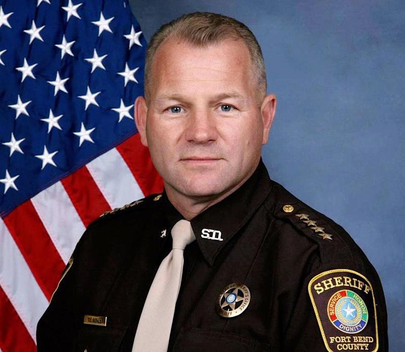 Sheriff Troy Nehls didn't like a rude sticker about the president and those who voted for him.