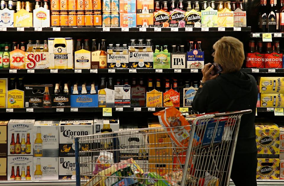 alcohol convenience store shopping beer