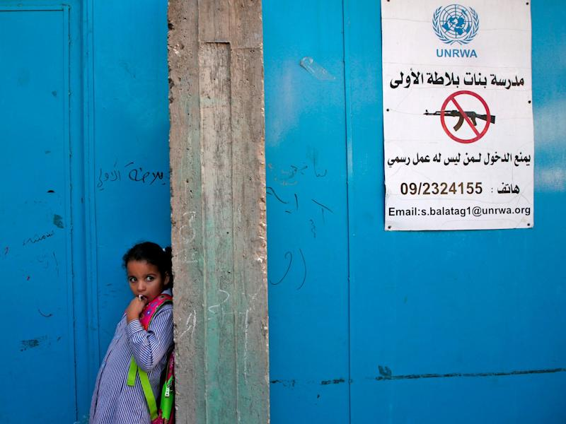 The UNRWA provides health care, education and social services to Palestinians in the West Bank, Gaza Strip, Jordan, Syria and Lebanon: AFP/Getty