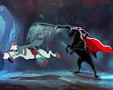 """<p>I used to watch Disney's animated version of the Ichabod Crane tale every <a class=""""link rapid-noclick-resp"""" href=""""https://www.popsugar.com/Halloween"""" rel=""""nofollow noopener"""" target=""""_blank"""" data-ylk=""""slk:Halloween"""">Halloween</a> - once I grew up and stopped being scared of the headless horseman's pursuit of Crane in the movie's climax. Now it's a nostalgic classic for me - even if I do secretly get goosebumps when I see that flaming pumpkin flying across the covered bridge.</p> <p><a href=""""https://www.disneyplus.com/movies/the-adventures-of-ichabod-and-mr-toad/74sGKrq2Gm6j"""" class=""""link rapid-noclick-resp"""" rel=""""nofollow noopener"""" target=""""_blank"""" data-ylk=""""slk:Watch The Adventures of Ichabod and Mr. Toad on Disney+ here!"""">Watch <strong>The Adventures of Ichabod and Mr. Toad</strong> on Disney+ here!</a></p>"""