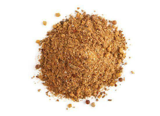 """<em>behr-behr-EE</em> A spice mixture made up of chili peppers, garlic, ginger, dried basil, korarima, rue, white and black pepper, and fenugreek. <strong>How to Use:</strong> Use it as a rub for meats or as a seasoning in stews and braises. <strong>Origin:</strong> Ethiopia and Eritrea. <strong>Recipe:</strong> <a href=""""http://www.huffingtonpost.com/2012/03/01/almazrsquos-ethiopian-d_n_1314516.html"""" rel=""""nofollow noopener"""" target=""""_blank"""" data-ylk=""""slk:Doro Wat"""" class=""""link rapid-noclick-resp"""">Doro Wat</a> <strong><a href=""""http://www.deandeluca.com/herbs-and-spices/herbs-spices/berbere-by-see-smell-taste.aspx"""" rel=""""nofollow noopener"""" target=""""_blank"""" data-ylk=""""slk:Berbere"""" class=""""link rapid-noclick-resp"""">Berbere</a> at DeanandDeluca.com, $30</strong>"""