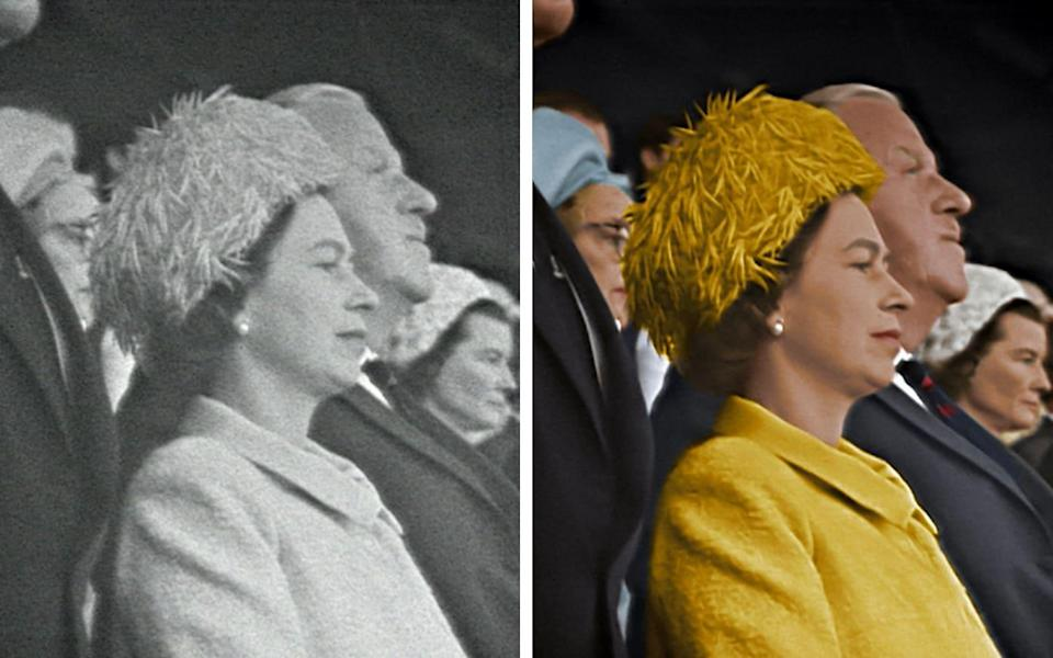 The Queen, before and after - Film and stills courtesy of Final Replay