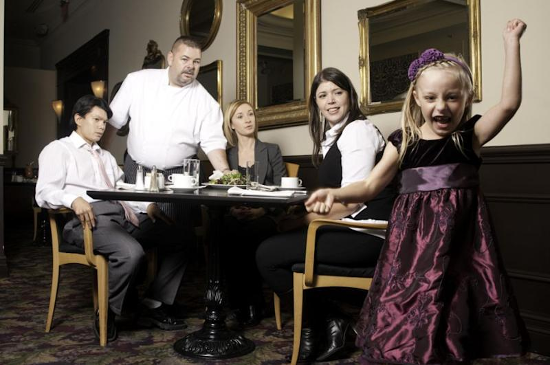 Unruly child in posh restaurant