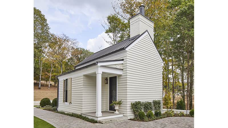 """<p>Treat visitors to a five-star stay in the inviting Bluebird Cottage, a petite pairing to the historic-inspired <a href=""""https://houseplans.southernliving.com/plans/SL2025"""" rel=""""nofollow noopener"""" target=""""_blank"""" data-ylk=""""slk:Oakland Hall plan (SL-2025)."""" class=""""link rapid-noclick-resp"""">Oakland Hall plan (SL-2025).</a> The two-story structure gives guests plenty of room to relax, with a sitting area, fireplace, and loft upstairs.</p> <p>1 bedroom, 1 bath</p> <p>619 square feet</p> <p>See plan: <a href=""""https://houseplans.southernliving.com/plans/SL2026"""" rel=""""nofollow noopener"""" target=""""_blank"""" data-ylk=""""slk:Bluebird Cottage (SL-2026)"""" class=""""link rapid-noclick-resp"""">Bluebird Cottage (SL-2026)</a></p>"""