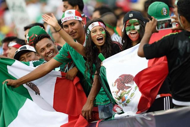 Mexico fans cheer before the 2015 CONCACAF Gold Cup final against Jamaica in Philadelphia on July 26, 2015 (AFP Photo/Don Emmert)