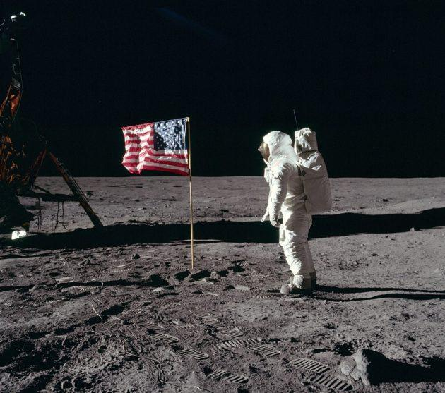 Apollo 11 flag salute