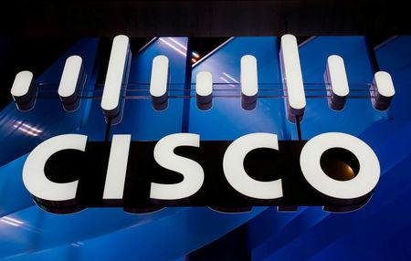 Cisco is seen during the Mobile World Congress in Barcelona