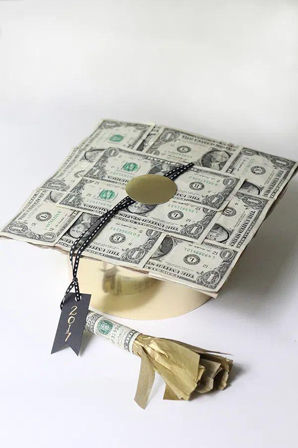 "<p>Who knew that you could make a graduation cap out of paper money? It'll help your graduate pay their first month of rent!</p><p><strong>Get the tutorial at <a href=""https://lessthanperfectlifeofbliss.com/2017/05/diy-graduation-cap-made-of-money.html"" rel=""nofollow noopener"" target=""_blank"" data-ylk=""slk:Less-Than-Perfect Life of Bliss"" class=""link rapid-noclick-resp"">Less-Than-Perfect Life of Bliss</a>.</strong></p><p><a class=""link rapid-noclick-resp"" href=""https://go.redirectingat.com?id=74968X1596630&url=https%3A%2F%2Fwww.walmart.com%2Fip%2FScotch-Magic-Tape-Dispenser-in-x-325-in-3-Dispenser%2F395489319&sref=https%3A%2F%2Fwww.thepioneerwoman.com%2Fhome-lifestyle%2Fentertaining%2Fg36014713%2Fgraduation-party-ideas%2F"" rel=""nofollow noopener"" target=""_blank"" data-ylk=""slk:SHOP CLEAR TAPE"">SHOP CLEAR TAPE</a></p>"