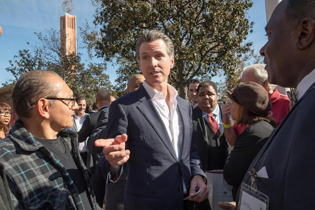 California gubernatorial candidate Gavin Newsom speaks after a town hall meeting at the University of Southern California in Los Angeles in January. (Photo: Monica Almeida/Reuters)