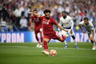 Mohamed Salah of Liverpool scores the opening goal (Photo by Matthias Hangst/Getty Images)