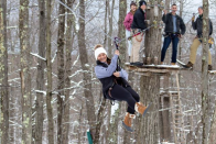"""<p>The Poconos have always been a great place for vacations. This holiday, try out the <a href=""""https://www.skytop.com/?_ga=2.229945241.440108409.1580935763-198405126.1580935763"""" rel=""""nofollow noopener"""" target=""""_blank"""" data-ylk=""""slk:Skytop Lodge"""" class=""""link rapid-noclick-resp"""">Skytop Lodge</a>—located near Mountain Lake, this is the perfect staycation for any winter wonderland fans. Staying at this resort is relatively inexpensive so that leaves more cash for skiing or a ride on the <a href=""""https://www.poconomountains.com/things-to-do/outdoor-adventure/zip-line/"""" rel=""""nofollow noopener"""" target=""""_blank"""" data-ylk=""""slk:Poconos zip line"""" class=""""link rapid-noclick-resp"""">Poconos zip line</a>. If you're not afraid of heights, this is the perfect way to see the snowy paradise the Poconos can be. Take a drive over to <a href=""""https://www.thelodgeatwoodloch.com/spa/"""" rel=""""nofollow noopener"""" target=""""_blank"""" data-ylk=""""slk:The Lodge at Woodloch"""" class=""""link rapid-noclick-resp"""">The Lodge at Woodloch</a>, a fancy spa that can be a bit pricey, but is a good option after a day spent outdoors.</p>"""