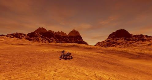 """<span class=""""caption"""">Three missions – from the UAE, China and the US – will arrive at Mars in Feburary. </span> <span class=""""attribution""""><a class=""""link rapid-noclick-resp"""" href=""""https://www.shutterstock.com/image-illustration/extremely-detailed-realistic-high-resolution-3d-1196626711"""" rel=""""nofollow noopener"""" target=""""_blank"""" data-ylk=""""slk:Limbitech via Shutterstock"""">Limbitech via Shutterstock</a></span>"""
