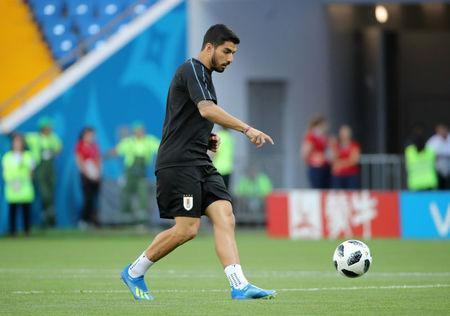 Soccer Football - World Cup - Uruguay Training - Rostov Arena, Rostov-on-Don, Russia - June 19, 2018 Uruguay's Luis Suarez during training REUTERS/Marko Djurica