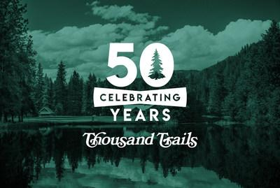 Thousand Trails celebrated 50 years of camping in 2019, hosting a series of events, giving away prizes, filling time capsules and more. Thousand Trails campgrounds and RV resorts offer year-round recreation and relaxation at locations across the nation. www.ThousandTrails.com