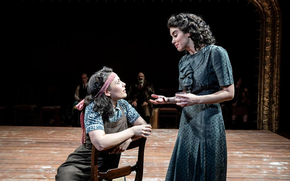 Molly Osborne and Alexandra Silber in Indecent, at the Menier Chocolate Factory - Johan Persson