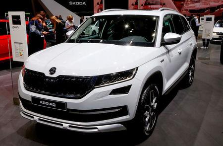 FILE PHOTO: A Skoda Kodiaq Scout car is seen during the 87th International Motor Show at Palexpo in Geneva