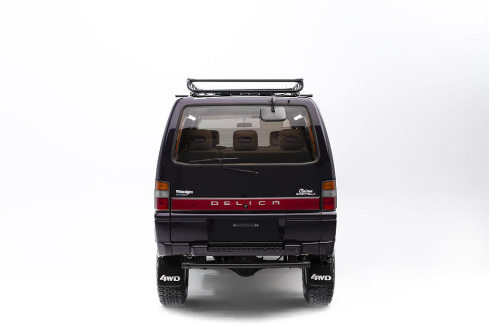 The back of the Claima Stories 1993 Mitsubishi Delica Starwagon. - Credit: Courtesy of Claima Stories