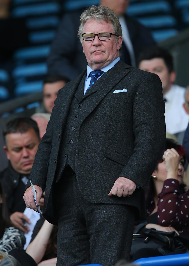 Comedian Jim Davidson in the stands