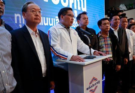 Uttama Savanayana, Palang Pracharat Party leader, holds a news conference during the general election in Bangkok, Thailand, March 24, 2019. REUTERS/Soe Zeya Tun