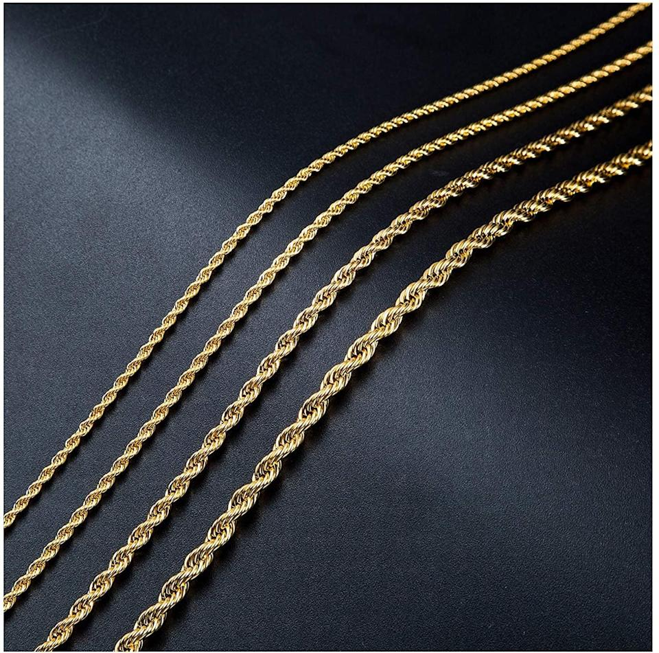 <p>The <span>Sannyra 2mm Gold Plated Twist Chain Necklace</span> ($6, originally $9) is a cute and simplistic piece that you can layer.</p>
