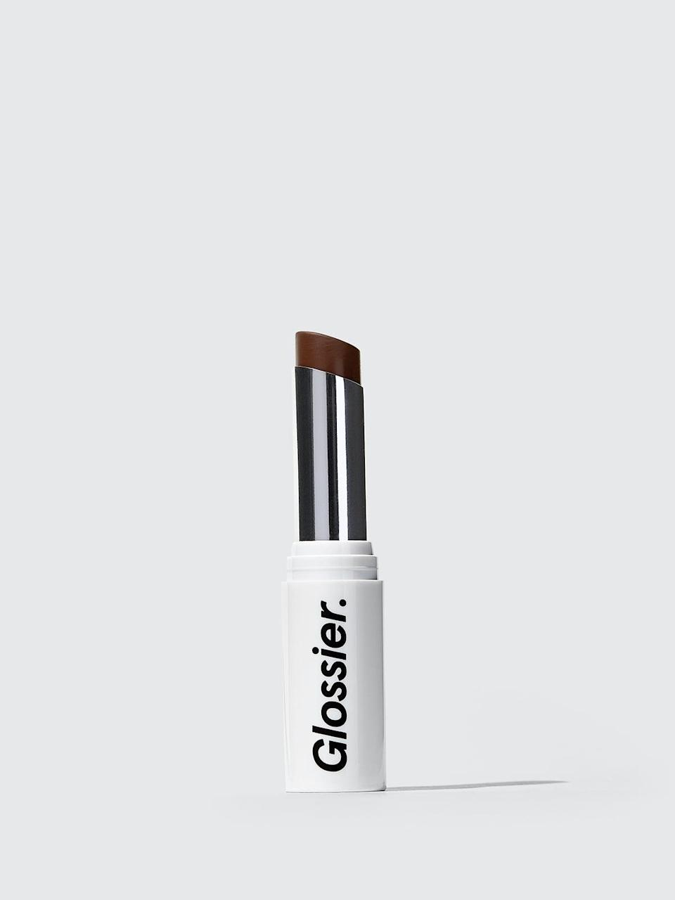 "<p>""I am a huge fan of the Generation Z lipsticks for its innovative texture that allows you to create that already matte, blotted feel that you get from just one application,"" said Graham. ""I am putting two shades in here: Jam, which is the ultimate berry goodness, and <span>Glossier Generation Z Lipstick in Leo</span> ($18), (shown here), which is a neutral cocoa brown. These are great on everyone so get one, stat.""</p>"