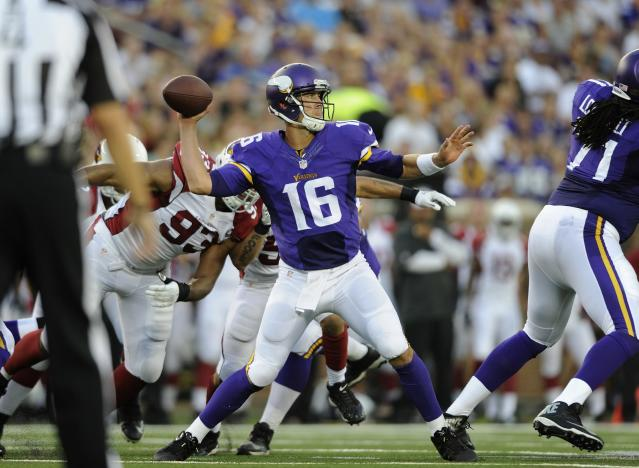 Cassel slated to start Vikings' third preseason game ahead of Bridgewater