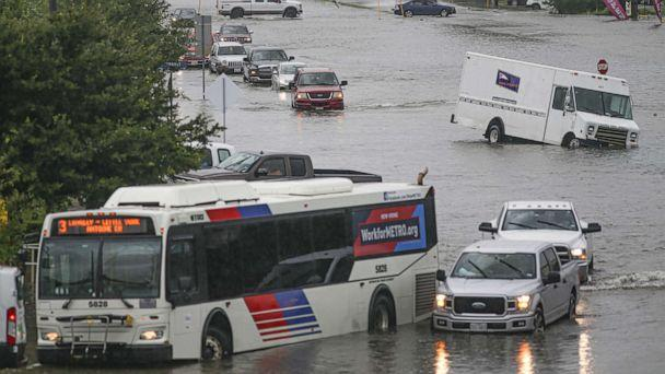 PHOTO: Cars are flooded, Sept. 19, 2019, in Houston, Texas. (Thomas B. Shea/Getty Images)