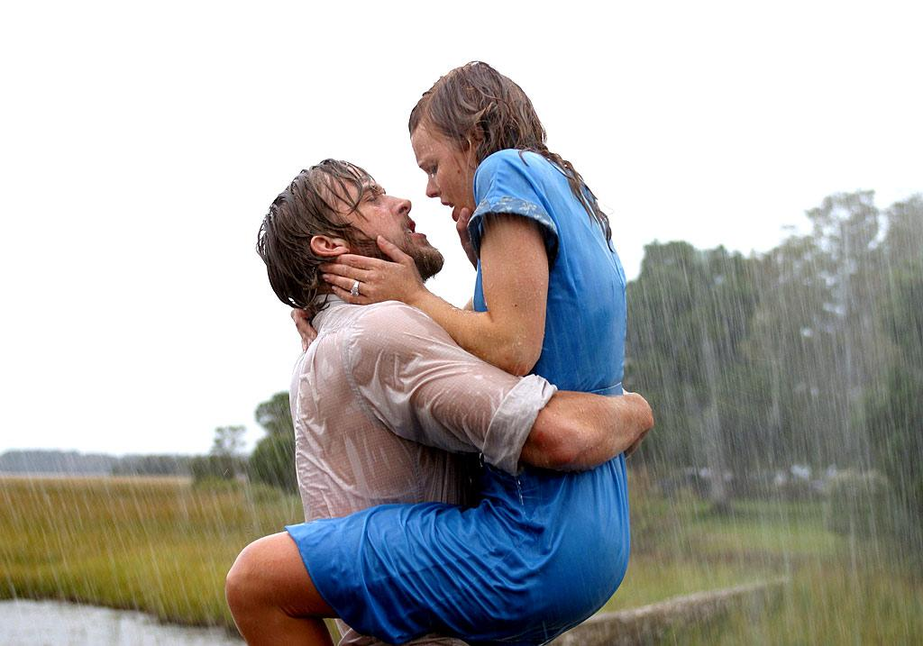 "We dare you to watch this movie about the lifelong love between Ryan Gosling's Noah and Rachel McAdams' Allie in ""The Notebook,"" without crying. Despite having seen the former real-life couple fight, pine for each other, and make out in the rain many, many times before, we'll gladly view this Nicholas Sparks tearjerker with you. New Line/courtesy Everett Collection"