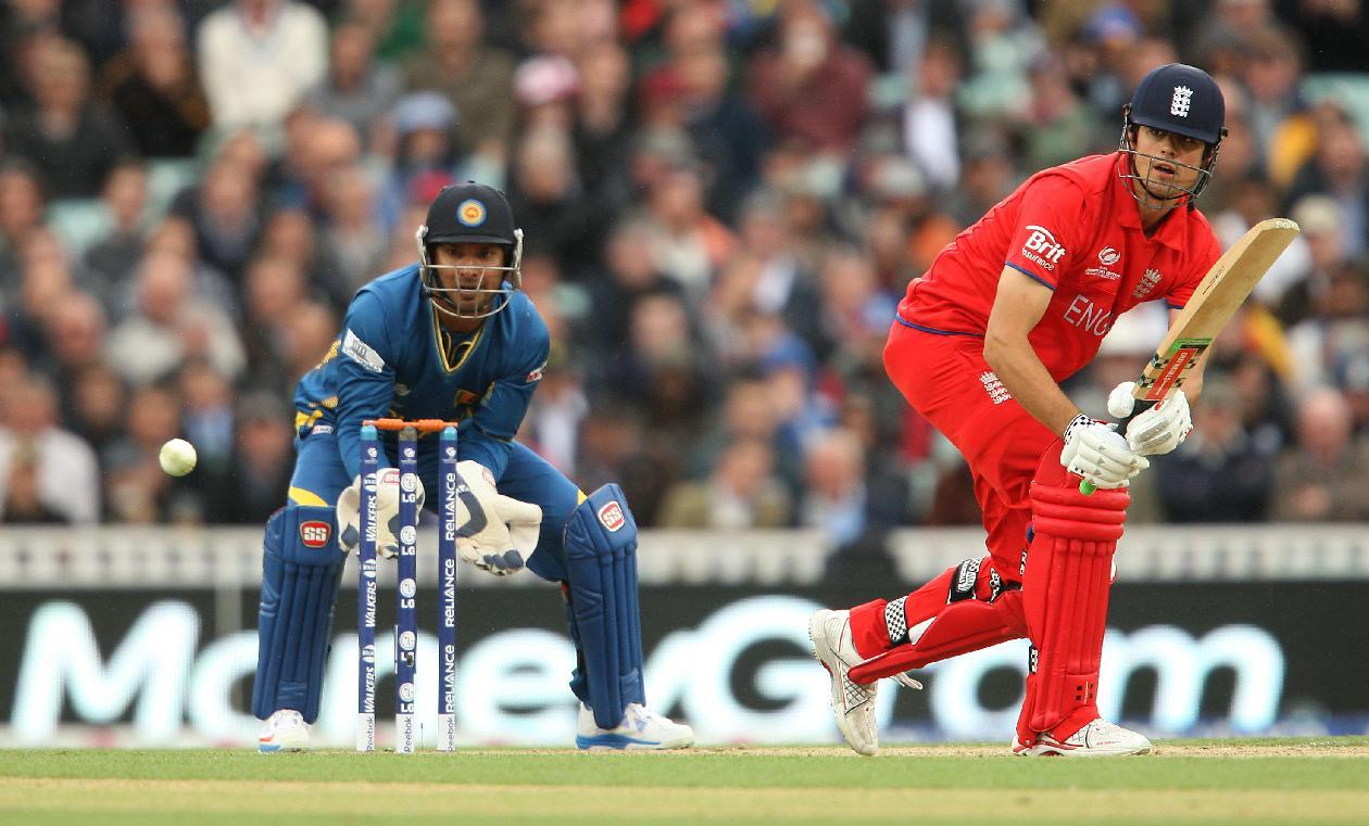England's Alastair Cook during the ICC Champions Trophy match at The Kia Oval, London.