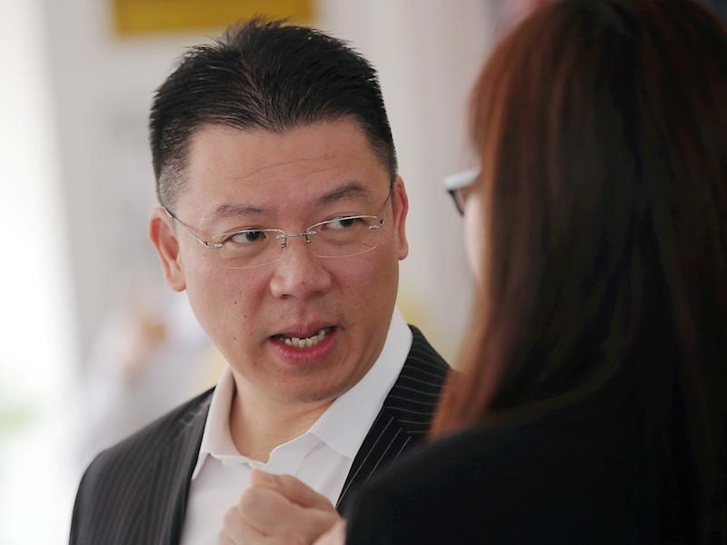 Perak DAP chairman Nga Kor Ming speaks to reporters during an event at SJK (C) Ave Maria in Ipoh September 12, 2019. — Picture by Farhan Najib