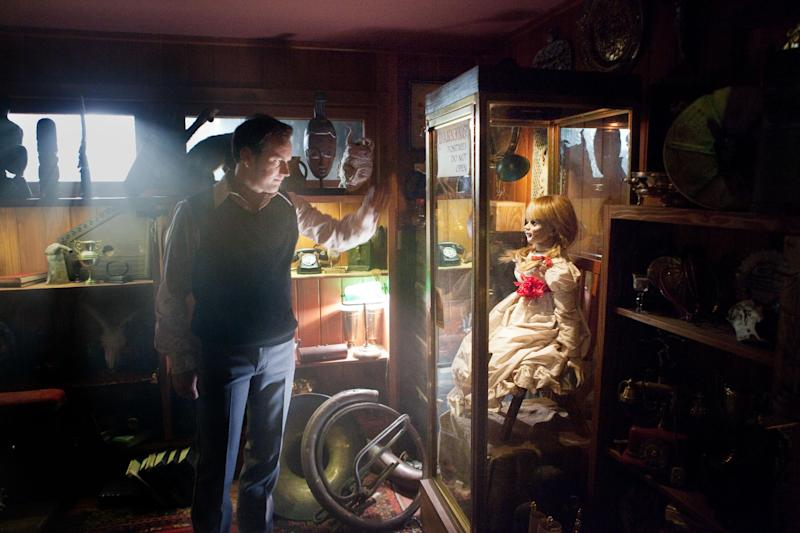 """In this publicity image released by Warner Bros. Pictures, Patrick Wilson portrays Ed Warren in a scene from """"The Conjuring."""" (AP Photo/New Line Cinema/Warner Bros. Pictures, Michael Tackett)"""
