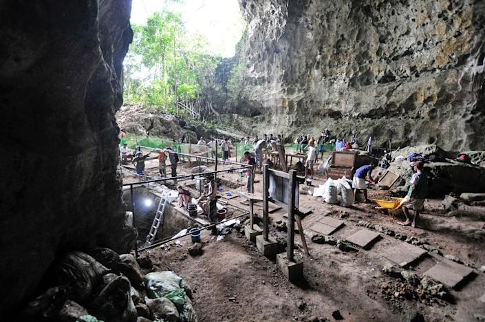 Researchers from France, the Philippines and Australia found the remains of a new species of human, Homo luzonensis, in the Callo Cave on the island of Luzon (AFP Photo/Florent DETROIT)