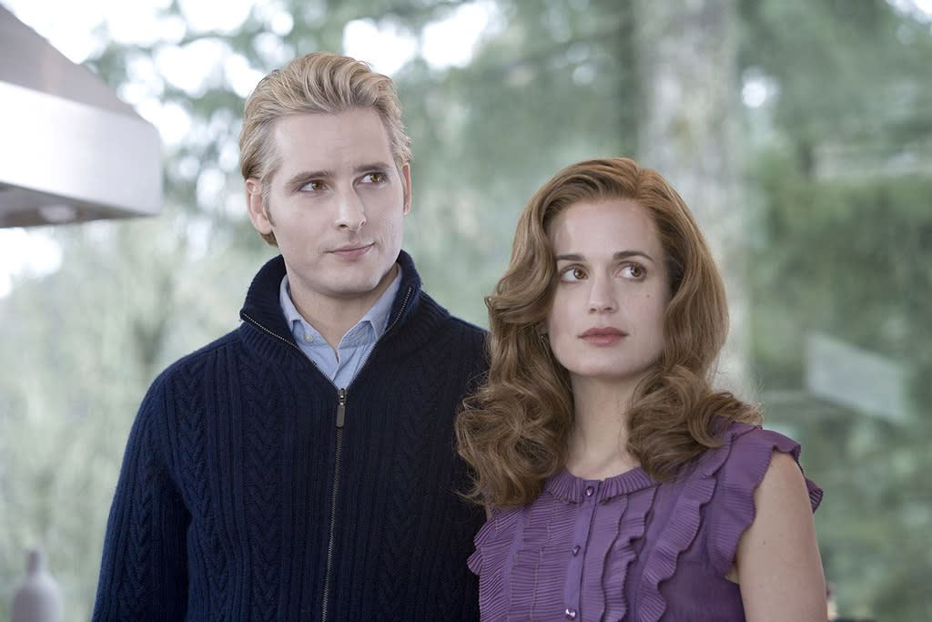 "CARLISLE (<a href=""http://movies.yahoo.com/movie/contributor/1800018788"">Peter Facinelli</a>):  Full Name: Dr. Carlisle Cullen  Status: Vampire  Date of Birth: 1640s  Date of Transformation: After 1663  Special Abilities: Compassion and the ability to resist the thirst for human blood   ""Please don't take offense, but we'd appreciate it if you'd refrain from hunting in this immediate area. We have to stay inconspicuous, you understand.""   ESME (<a href=""http://movies.yahoo.com/movie/contributor/1807539331"">Elizabeth Reaser</a>):  Full Name: Esme Anne Platt Evenson Cullen  Status: Vampire  Date of Birth: 1895  Date of Transformation: 1921  Special Abilities: Loves passionately   ""You're what he wants. It will all work out, somehow."""