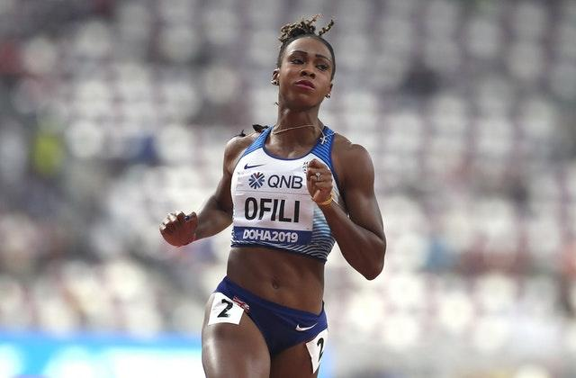 Cindy Ofili qualified in the 100m hurdles