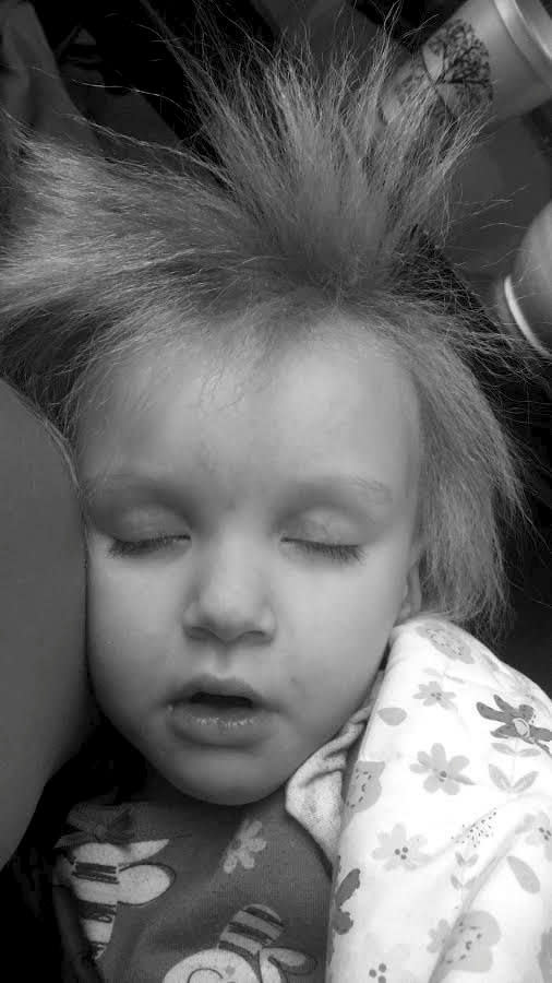 Phoebe's mum first noticed her hair was different when she was three months old [Photo: SWNS]