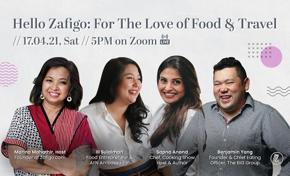 Hello Zafigo is back and we're kicking off Season 3 with Sapna Anand, Benjamin Yong, and Ili Sulaiman, as they talk food and how their travels give them culinary inspiration.