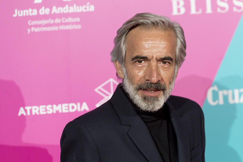 MADRID, SPAIN - MARCH 03: Imanol Arias attends 23rd Malaga Film Festival cocktail party at Circulo de Bellas Artes on March 03, 2020 in Madrid, Spain. (Photo by Juan Naharro Gimenez/WireImage)